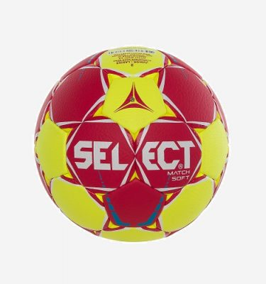 Afbeedling Select Match Soft handbal rood geel