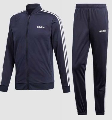 Afbeelding Adidas 3 stripes trainingspak heren blauw